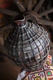 Cruche faite maison traditionnelle Photo stock