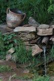 Cruche, paysage, ressort image stock