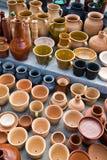 Cruches d'argile Photos stock