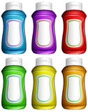 Cruches d'eau colorées Photo libre de droits