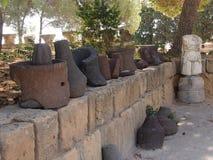 Cruches de Carthage antique détruite Photos stock
