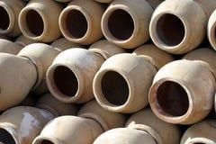 Cruches de poterie de terre Image stock