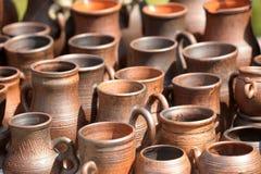Cruches en céramique images stock