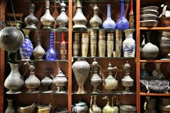 Cruches et vases arabes Images stock