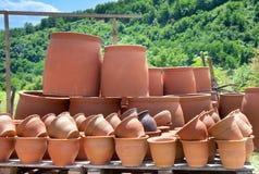 Cruches géorgiennes traditionnelles pour le vin Photo stock