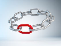 The crucial link concept Stock Photo