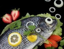 Crucian Fische mit Zwiebelenluftblasen Lizenzfreies Stockbild