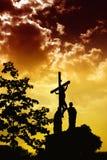 Crucificação de Jesus ilustração stock