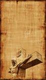 Crucificação de Jesus Parchment - vertical Fotos de Stock Royalty Free