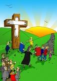 Crucificação pela sociedade Fotografia de Stock Royalty Free