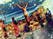 crucified foto de stock royalty free
