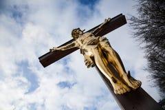 crucified imagem de stock