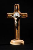 Crucified body of Christ on a cross Stock Images