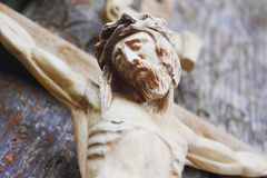Crucified Jesus Christ on the cross Stock Photos