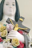 Crucified Jesus Christ. In the hand of Holy Women statue Stock Photos