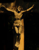 Crucified Jesus Christ. Holy cross with crucified Jesus Christ  (details Royalty Free Stock Image
