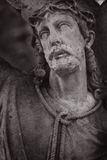 Crucified Jesus Christ. With Holy cross (details Royalty Free Stock Photos