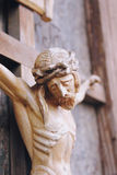 Crucified Jesus Christ. Holy cross with crucified Jesus Christ  (details Royalty Free Stock Images