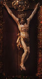 Crucified Jesus Christ on holy cross Stock Photography