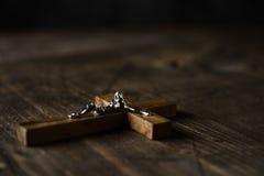 Crucifijo cristiano viejo Fotografía de archivo libre de regalías