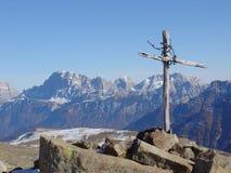 Crucifijo de Dolomiti Fotos de archivo