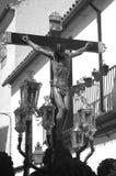 Crucifijo de la procesión en la semana santa Fotografía de archivo