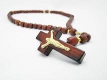 Crucifijo de madera Foto de archivo