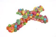 Crucifijo del caramelo Fotos de archivo