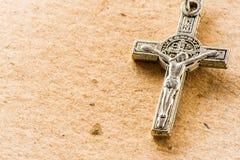 Crucifijo del rosario Imagen de archivo libre de regalías