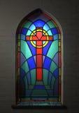 Crucifijo del vitral Imagenes de archivo