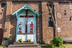 Crucifijo en Bedburg-Kaster, Alemania Fotos de archivo libres de regalías