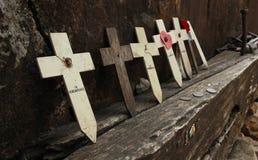 Crucifijo en Kanchanaburi Tailandia Imagen de archivo