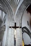 Crucifijo gigante de Cristo en el wal Fotos de archivo libres de regalías