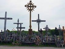 Crucifijo, grande y pequeño Fotos de archivo