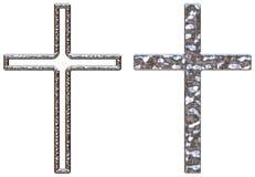 Crucifijos de Chrome Imagen de archivo libre de regalías