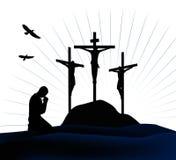 Crucifissione Fotografie Stock