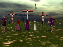 Crucifissione Fotografia Stock