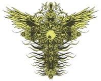 Crucifix à ailes illustration libre de droits