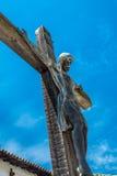 Crucifix στην αποστολή SAN Miguel Arcangel Στοκ Εικόνες