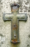 crucifix τρύγος μετάλλων ταφοπέτ&r Στοκ εικόνες με δικαίωμα ελεύθερης χρήσης