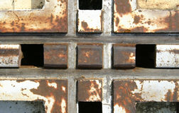 Crucifix. Cross two large, old, rusty rails Royalty Free Stock Photography