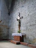 Crucifix. Photo of a crucifix, taken in a cathedral in Romania Stock Image