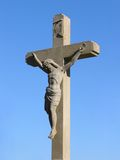 Crucifix. On blue sky royalty free stock photos