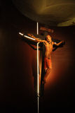 Crucifix. In the night in cloister Melk Stock Photography