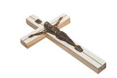 Crucifix. Jesus white background isolate Royalty Free Stock Image