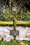 Crucifix on an abandoned cemetry Royalty Free Stock Photos
