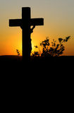 Crucifix afterglow. Crucifix afterglow the foreground rise stock photos