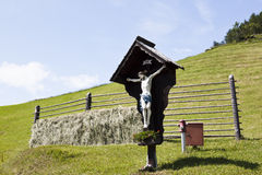Crucifix along road in Carinthia, Austria Royalty Free Stock Photos
