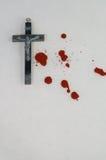 Crucifix and blood Stock Photos