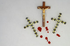 Crucifix and blood Stock Image